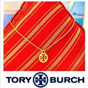 ✅🆕 AUTH TORY BURCH CHARM ON GOLD NECKLACE BANGLE